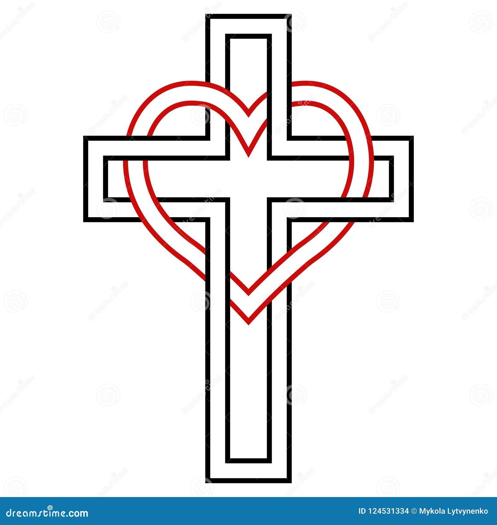 Przeplatać, wektorowy symbol wiara, miłość bóg, i chrześcijański symbol