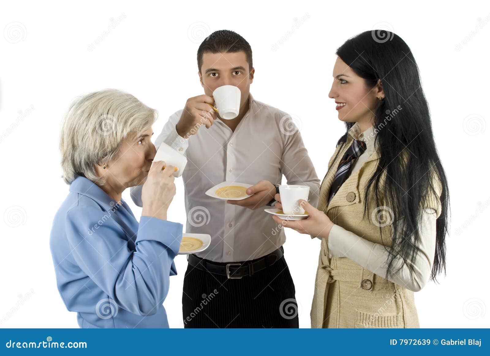 Przerw ludzie biznesowi kawowi