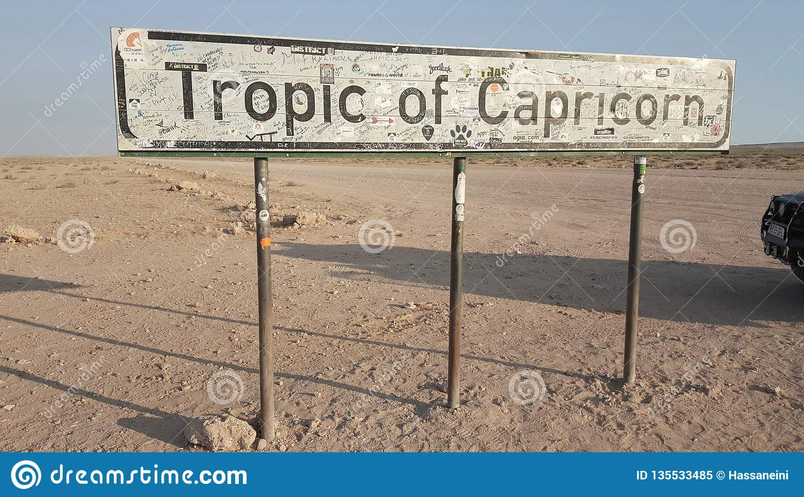 Przerwa zwrotnikiem Capricorn signboard