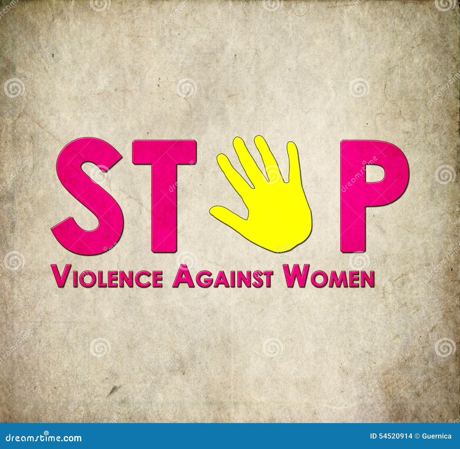 Przerwy przemoc przeciw kobietom
