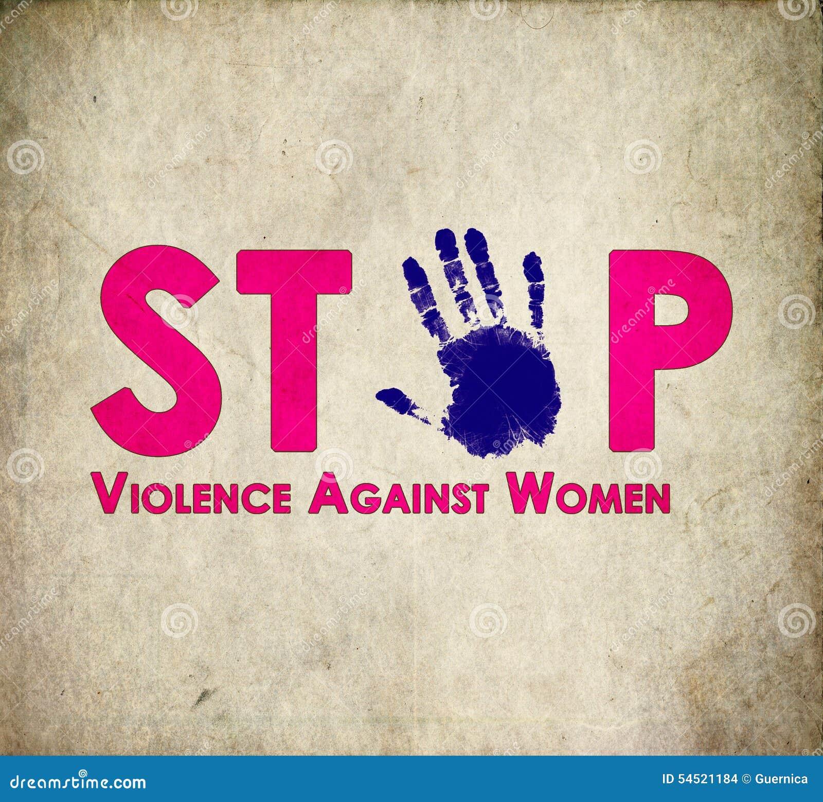 Przerwy przemoc przeciw kobietom retro