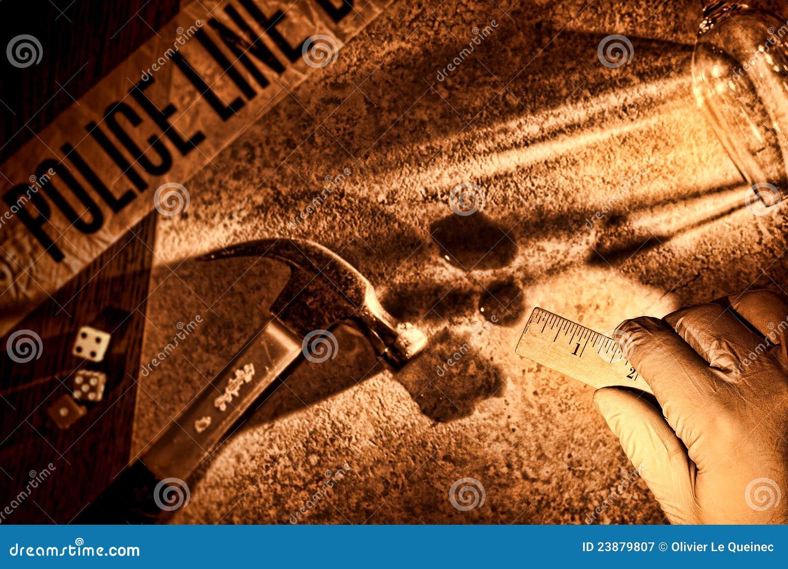 Przestępstwa csi ręki oficer śledczy morderstwa polici scena