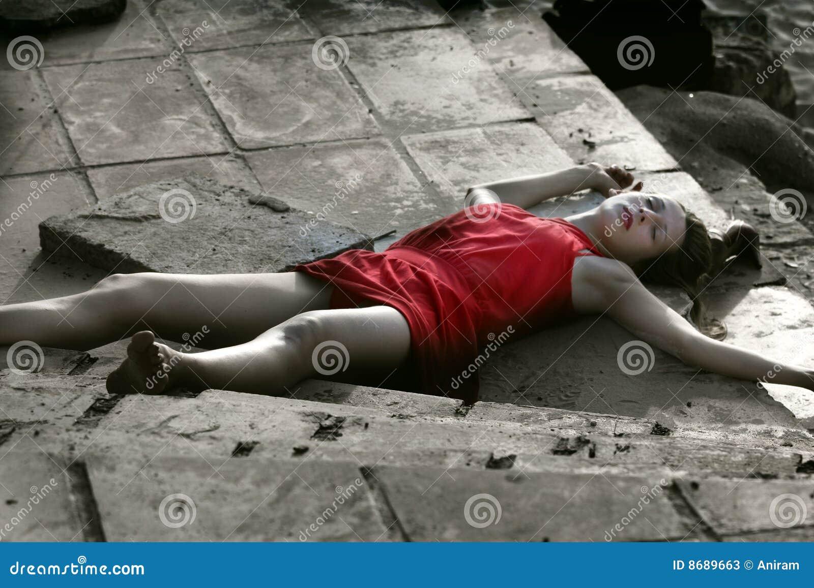 Przestępstwo sceny nieżywa kobieta