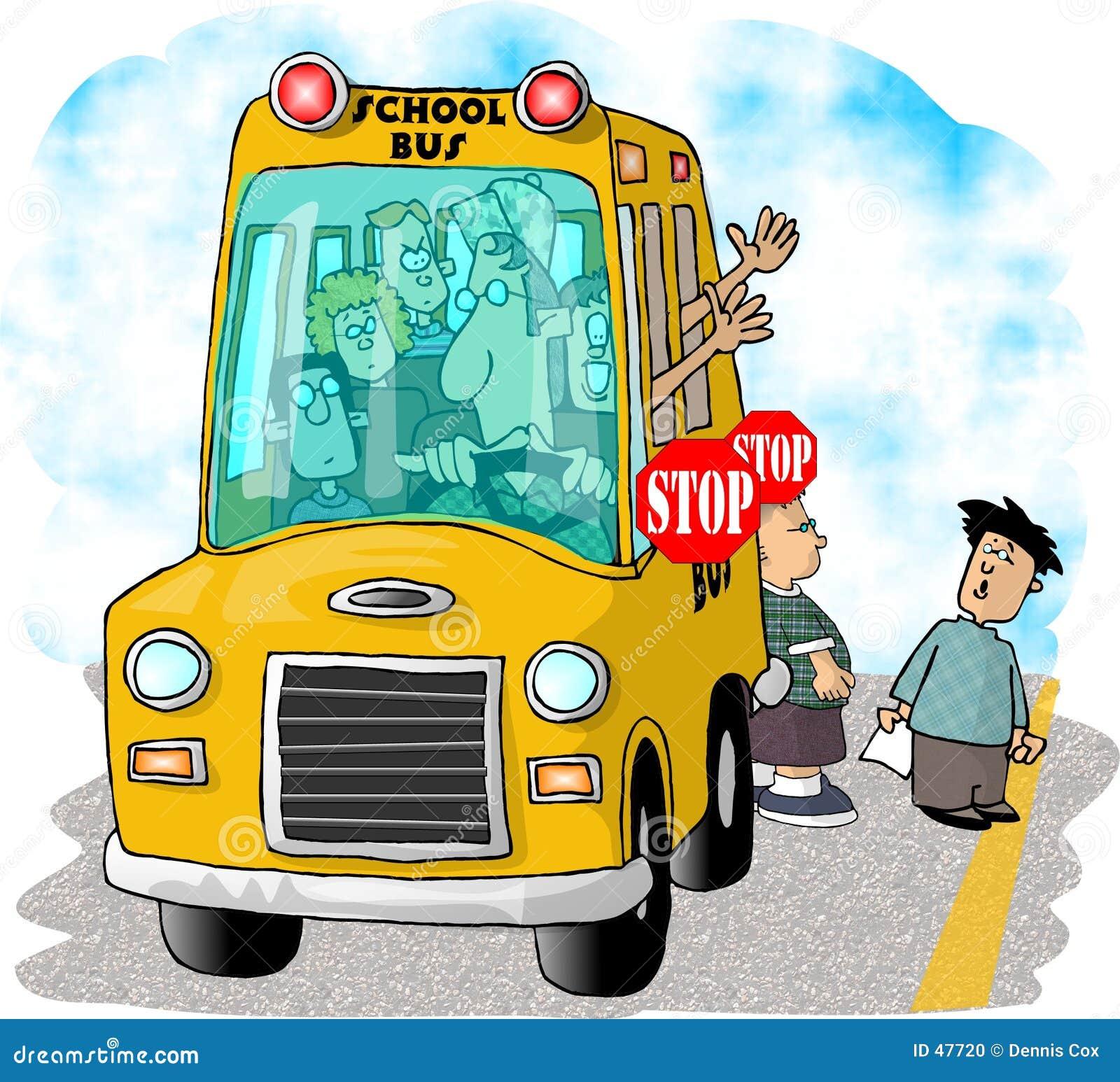 Przestań szkoły autobusem