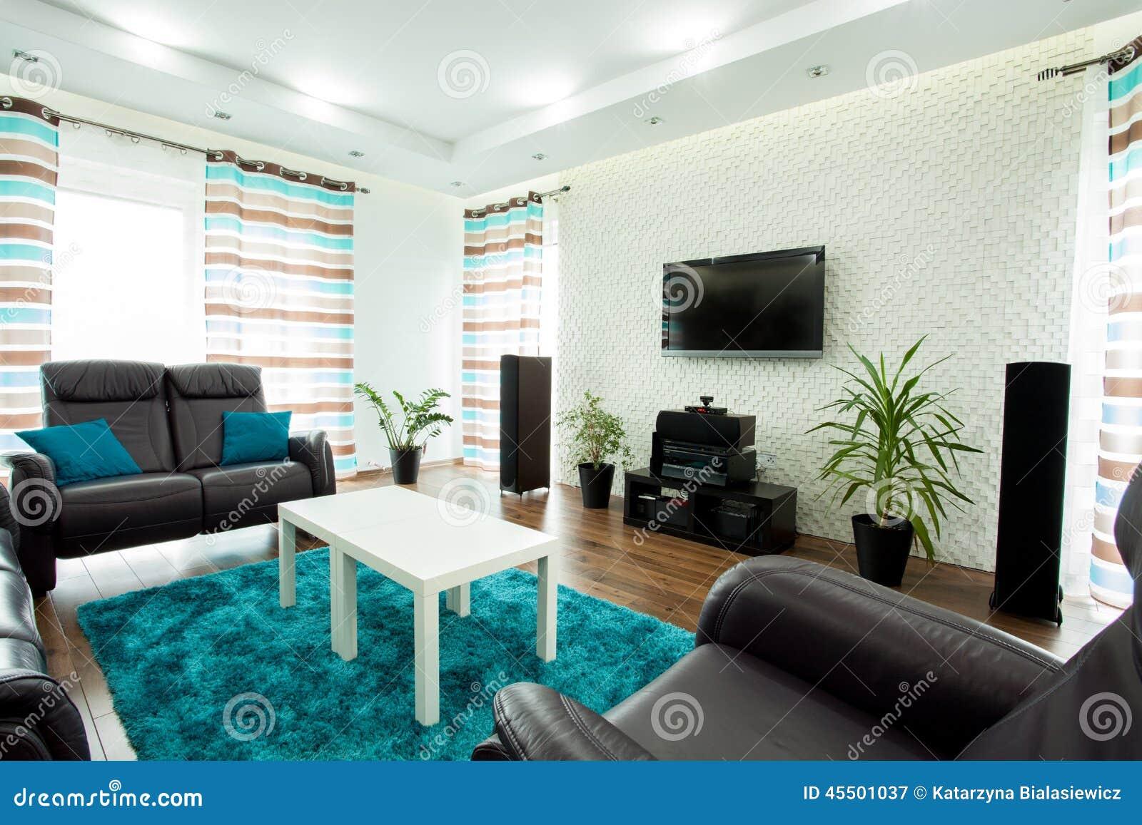 Przestronny żywy pokój z tv