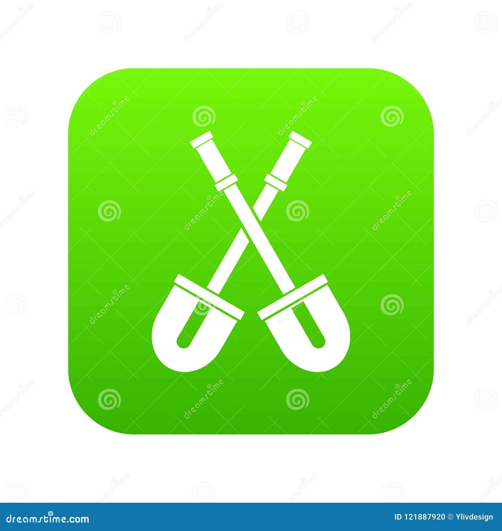 Przeszuflowywa ikony cyfrową zieleń