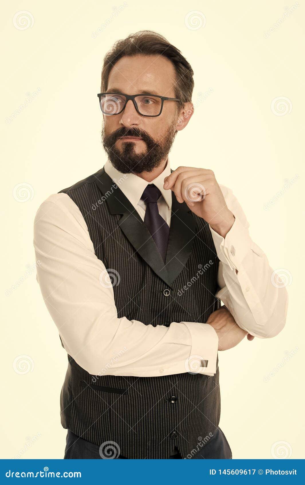 Przewdonik recepturowi eyeglass obiektywy, ramy i Biznesmen klasyczna formalna odzie? i w?a?ciwy eyewear biel