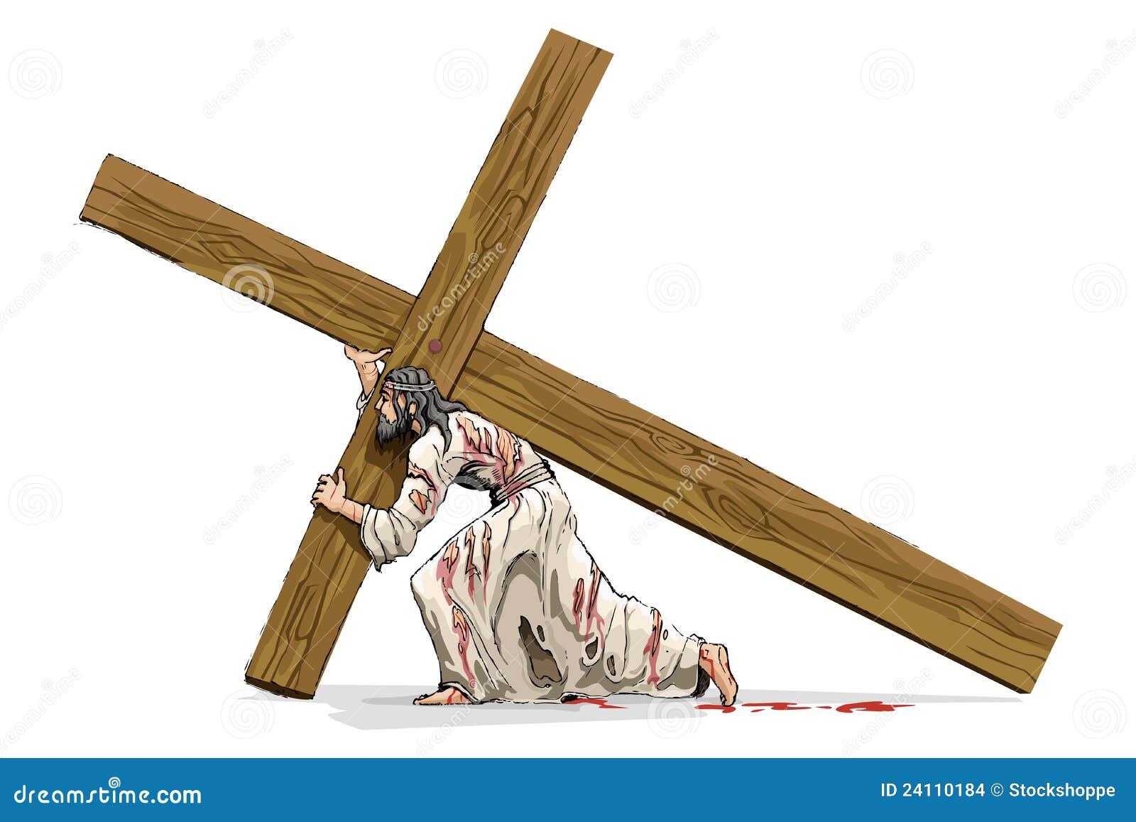 Przewożenie Christ przecinający Jesus