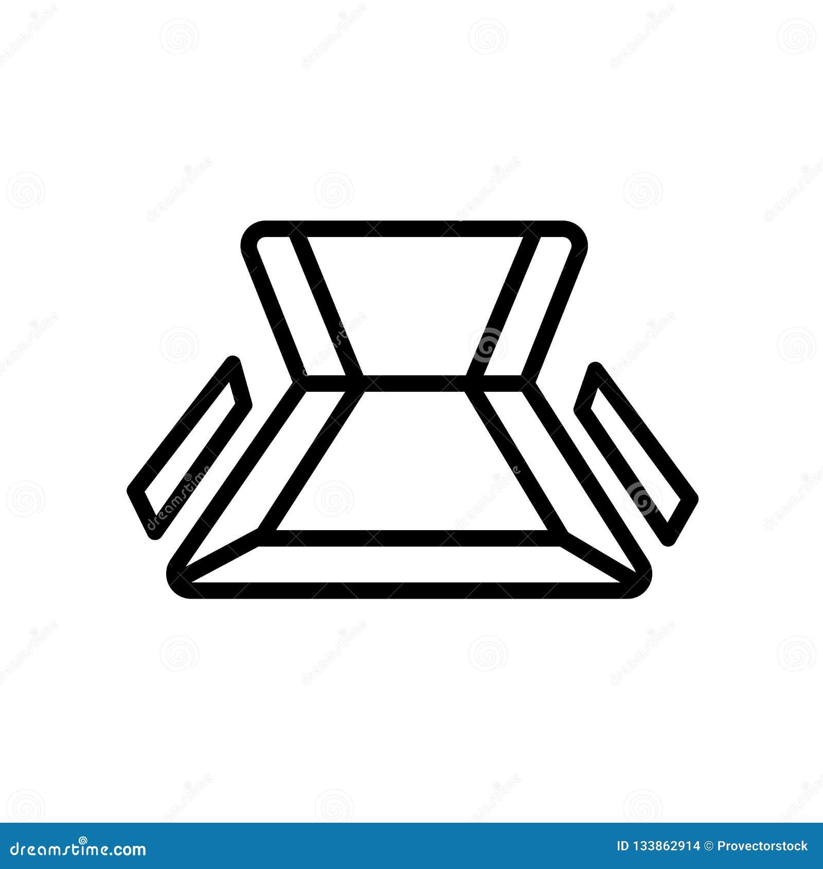Przewodniczy ikona odgórnego widok odizolowywającego na białym tle