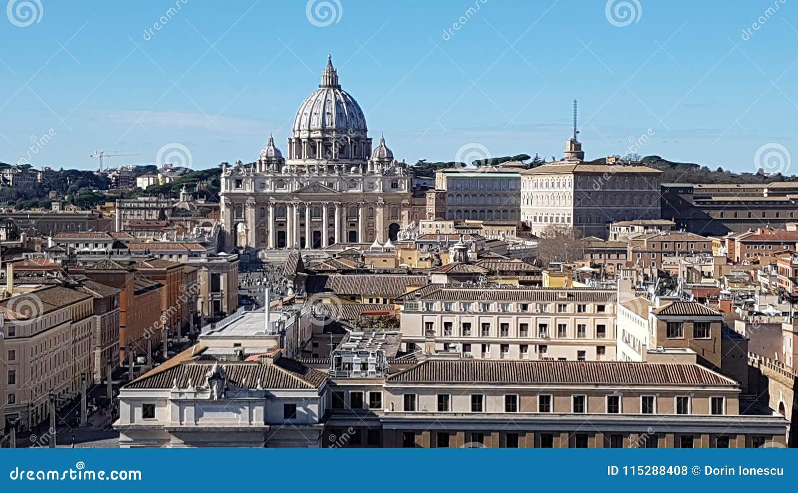 Przez della Conciliazione, St Peter ` s bazylika, świętego Peter ` s kwadrat, świętego Peter ` s bazylika, punkt zwrotny, history