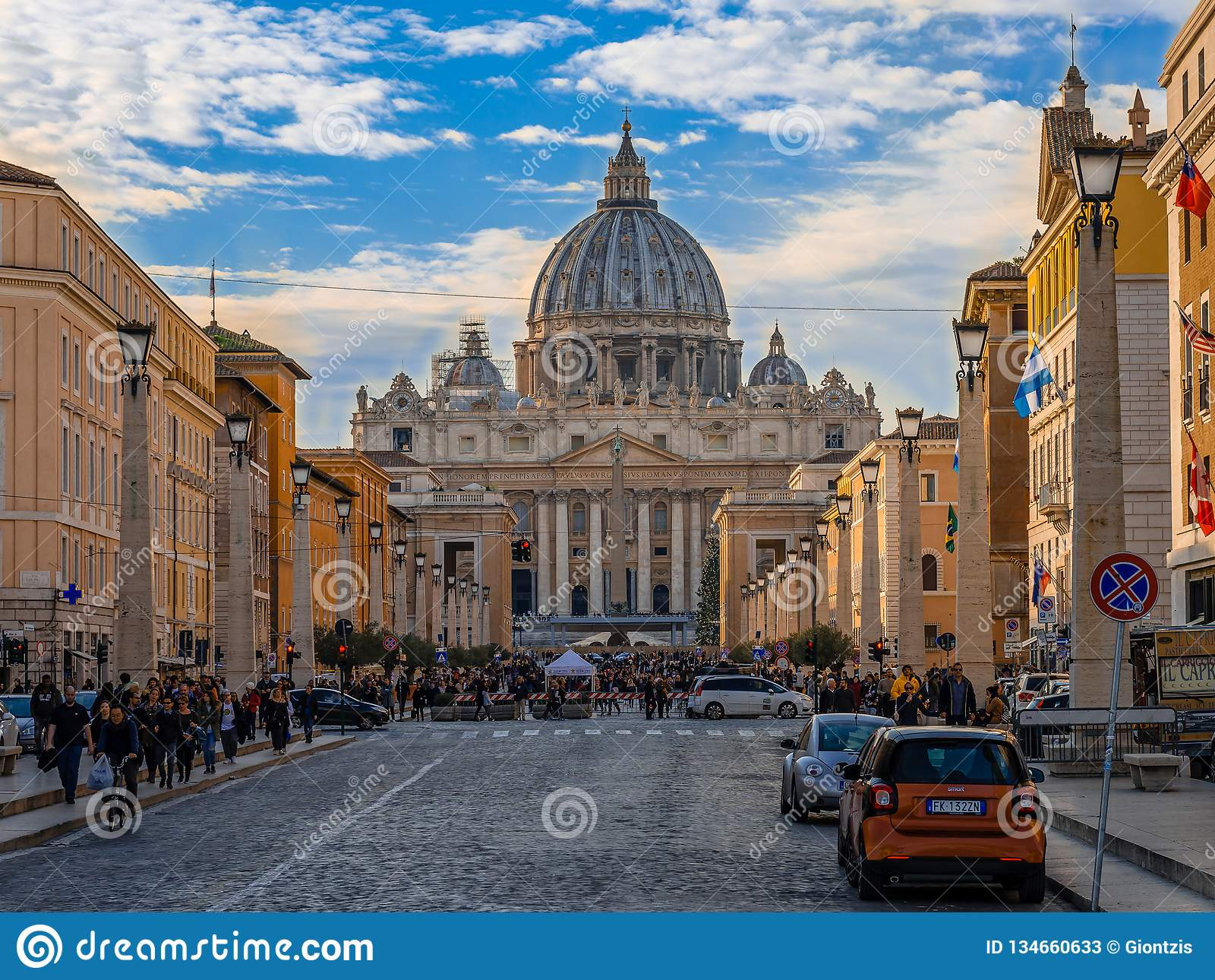 Przez della Conciliazione w Rzym,