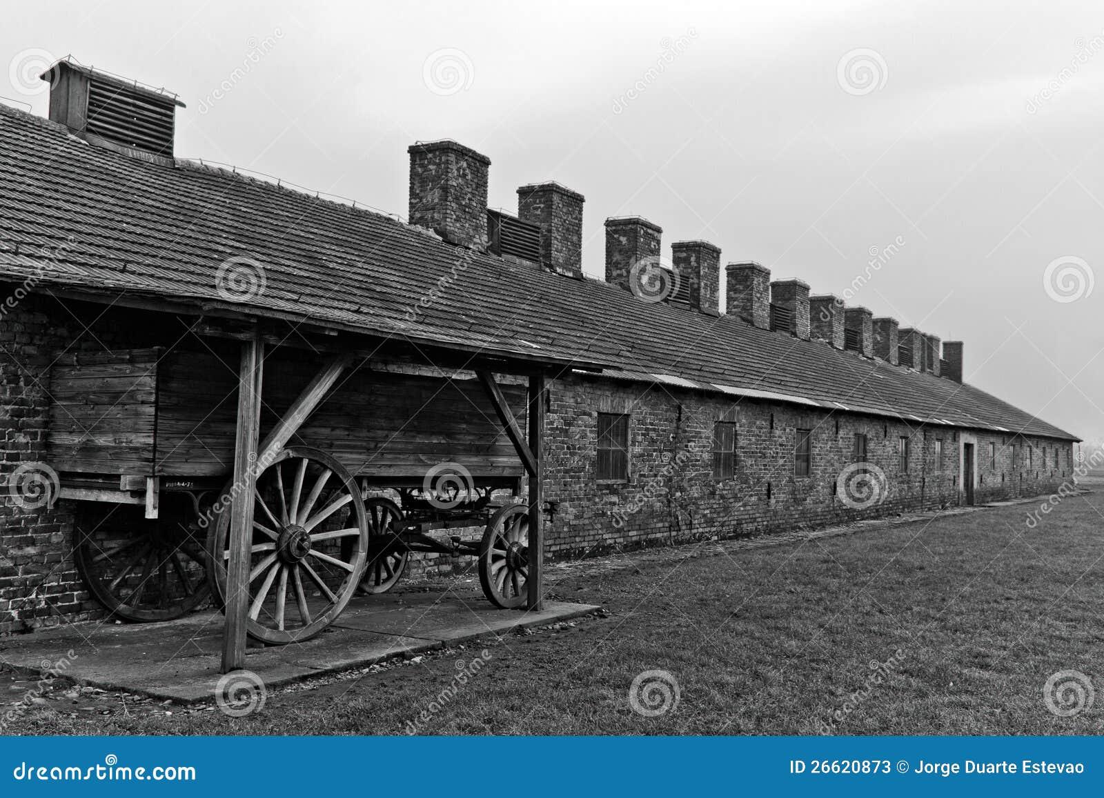 Przy Auschwitz fura drewniany ładunek Birkenau 2