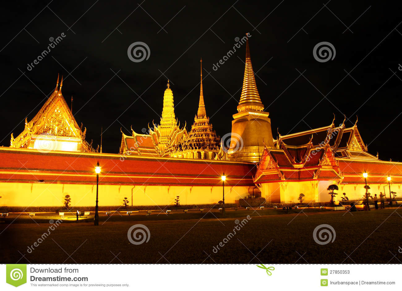 Przy Bangkok królewska świątynia, Tajlandia.