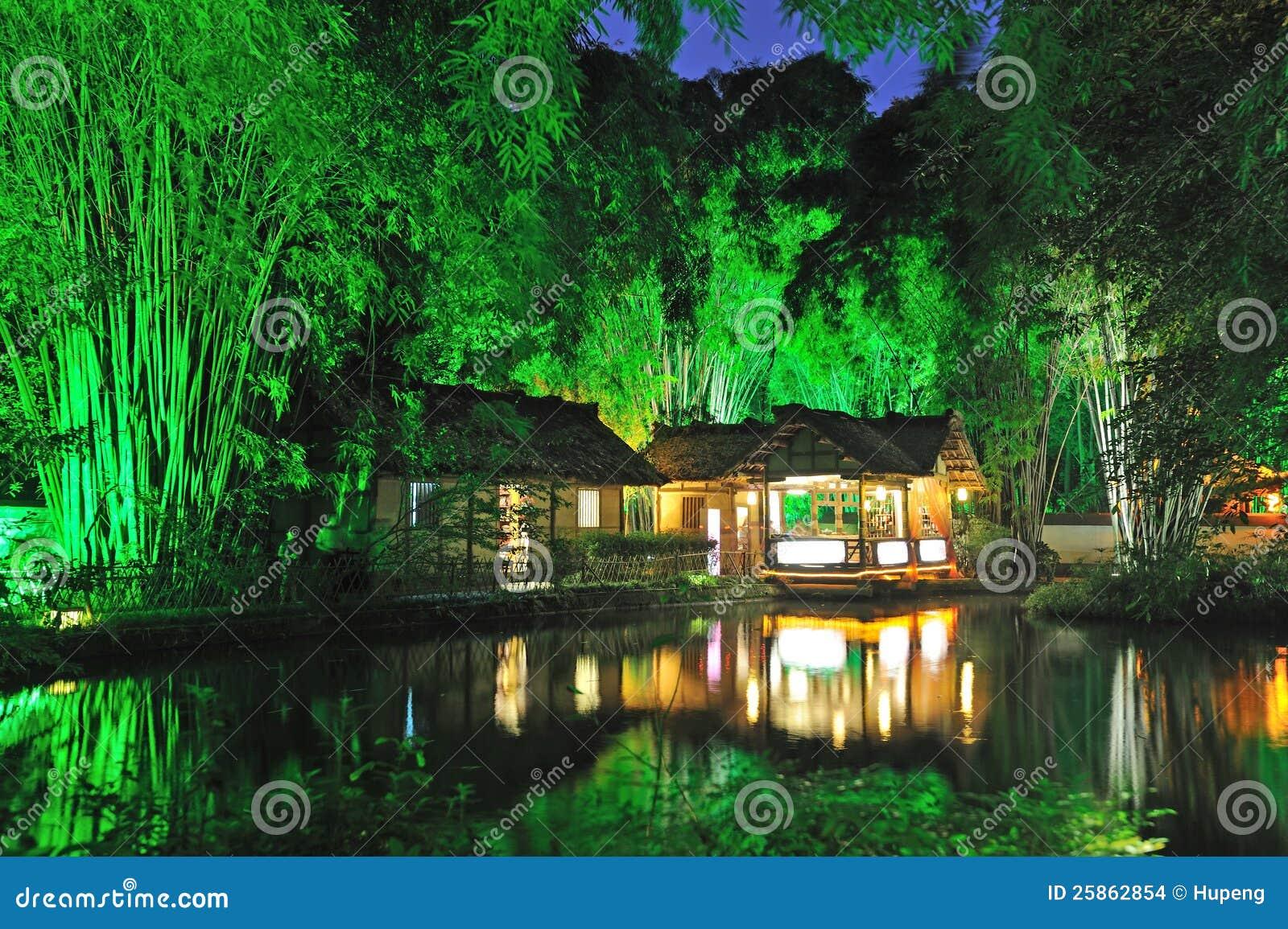 Przy noc chińczyka ogród