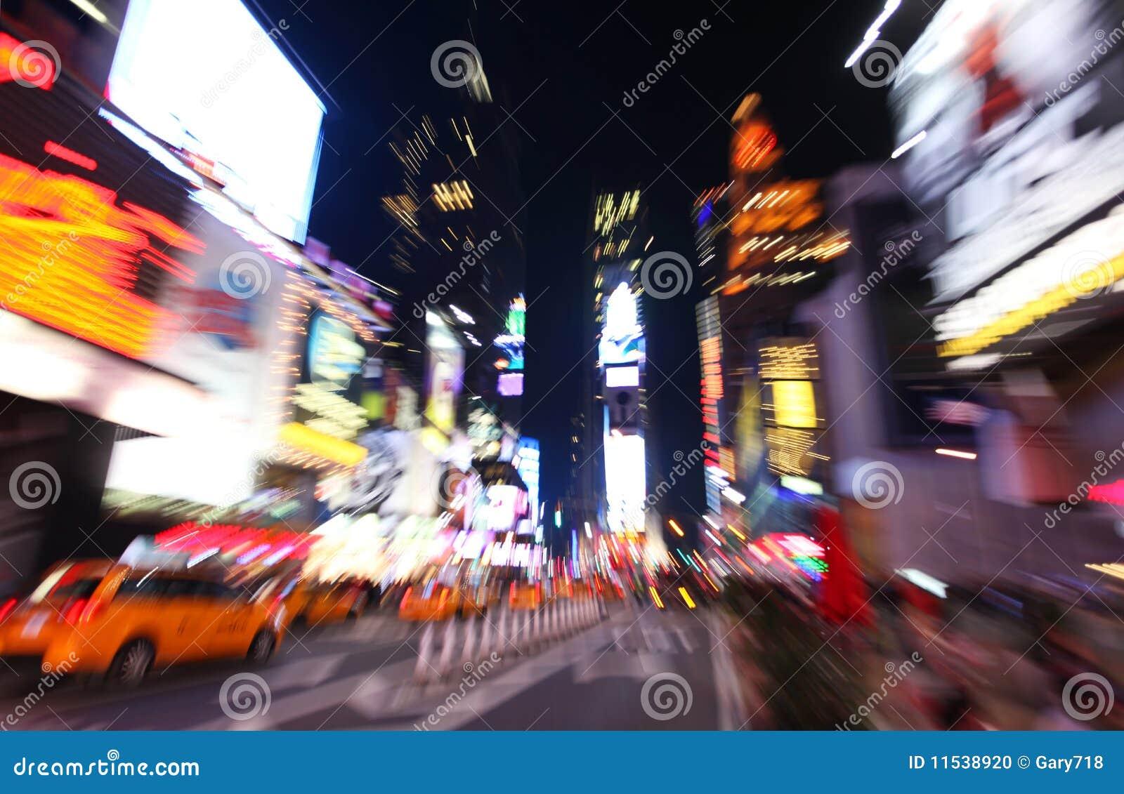 Przy noc times square