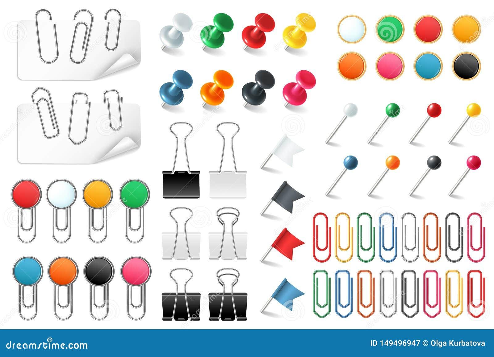 Przyczepia papierowe klamerki Pchnięcie szpilek sków halsu staplowa szpilka barwił papierowej klamerki biuro organizującego zawia