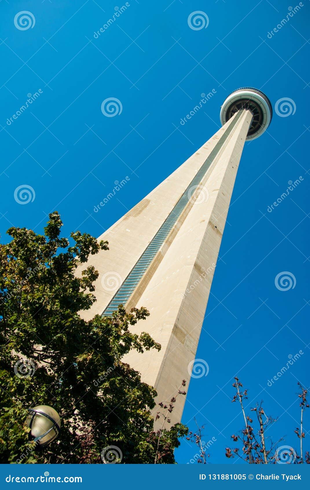 Przyglądający w górę CN wierza od poziom terenu przy - w colour
