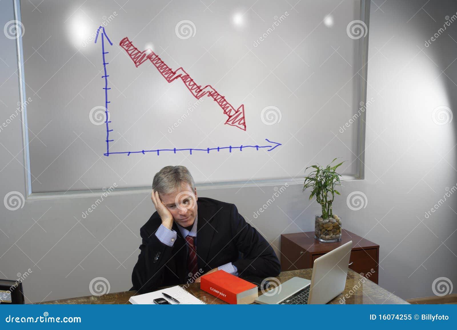 Przygnębiony kierownik