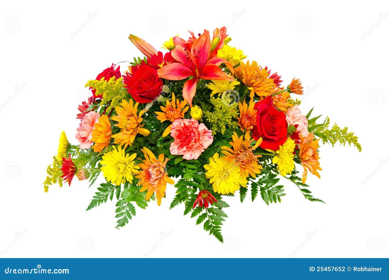 Przygotowania bukieta centerpiece kolorowy kwiat