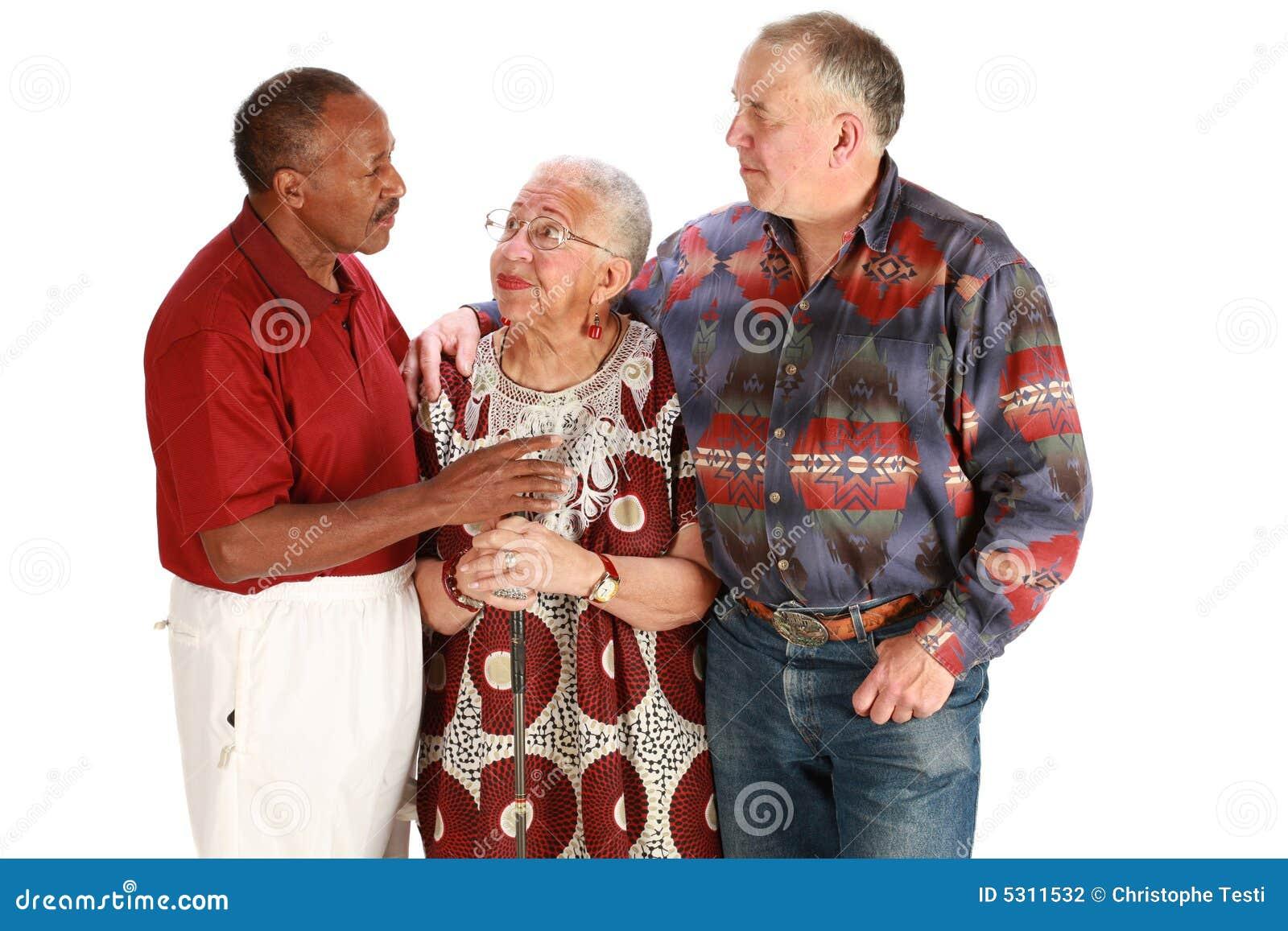 Przyjaciele multiracial