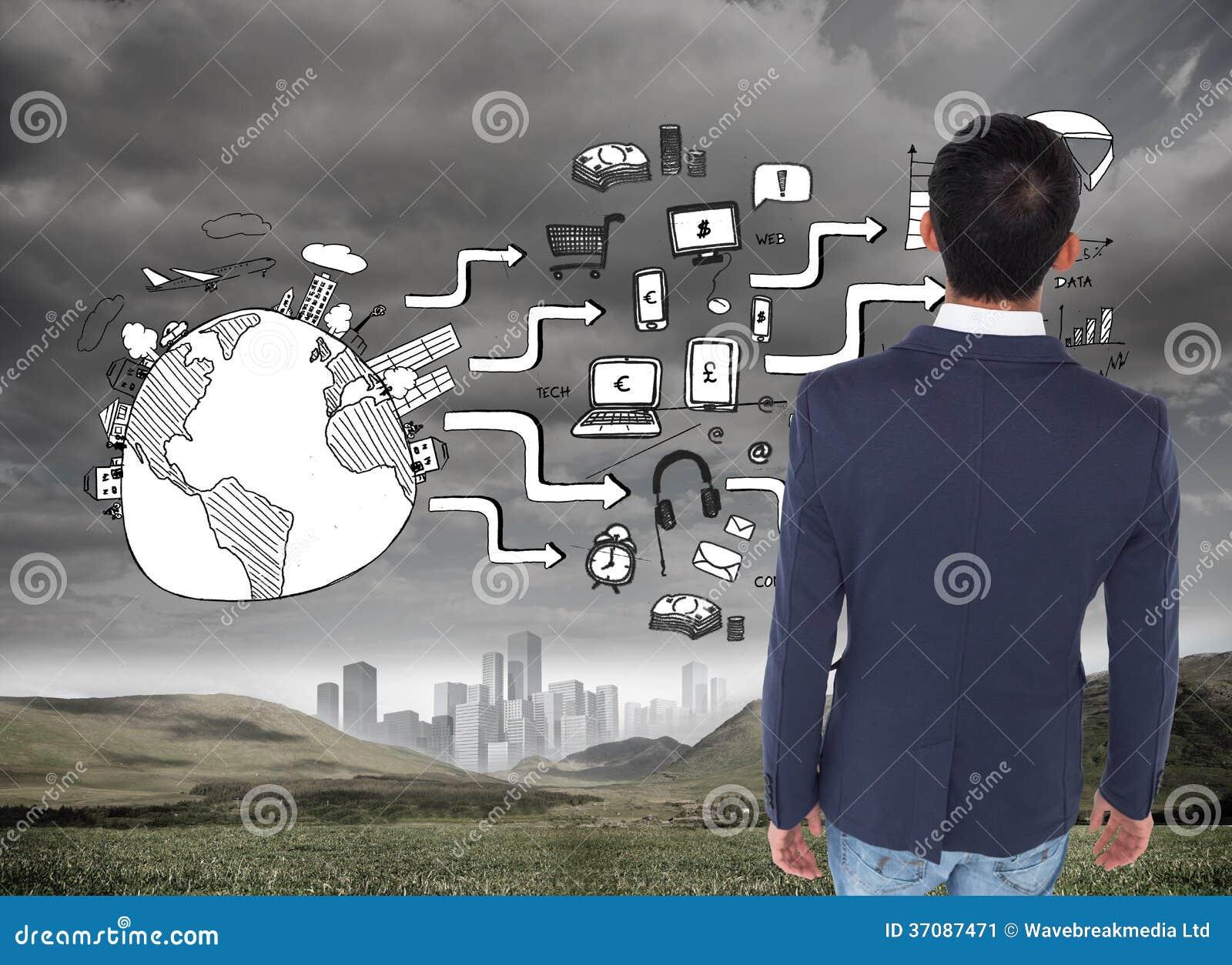Download Przypadkowy Biznesmena Odprowadzenie Obraz Stock - Obraz złożonej z ziemia, pastylka: 37087471