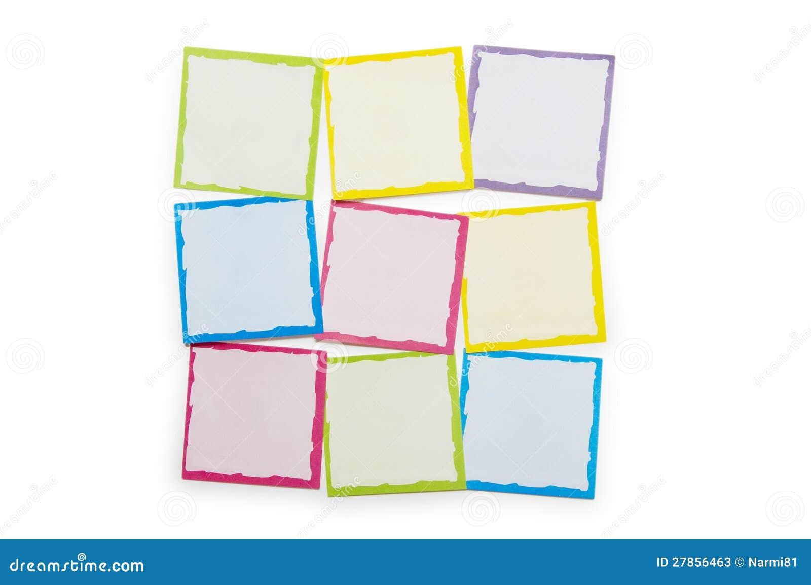 Przypomnienia notatki odizolowywać na biały tle