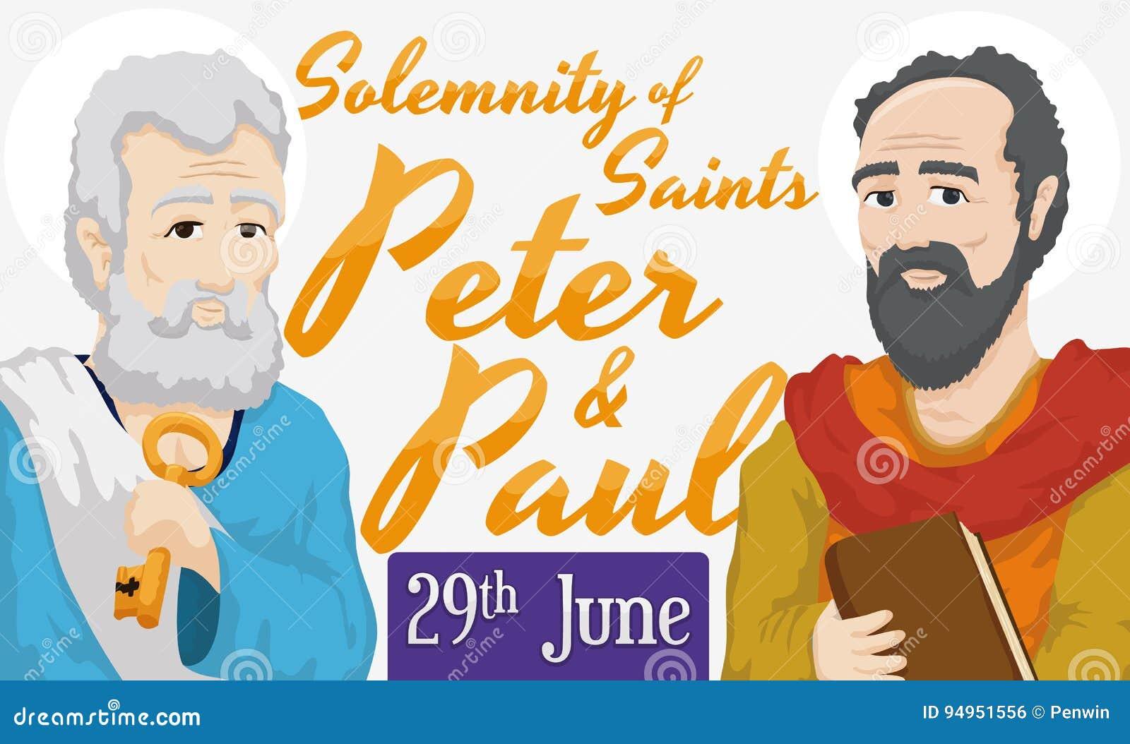 Przypomnienie data dla namaszczenia święty Peter i Paul, Wektorowa ilustracja