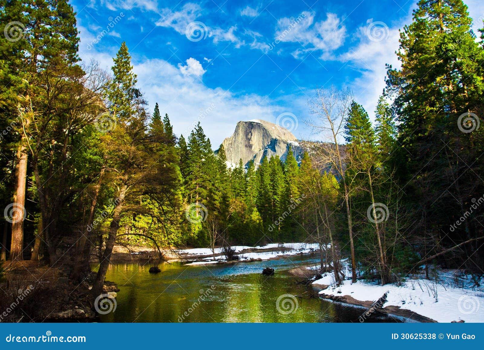 Przyrodnia kopuły skała punkt zwrotny Yosemite park narodowy, Kalifornia