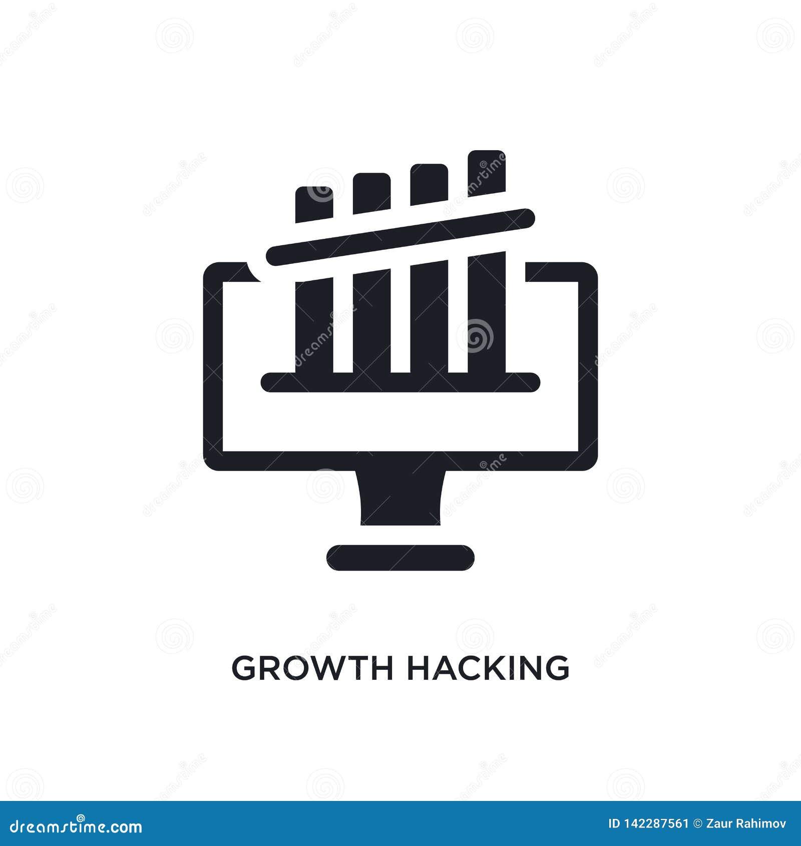 Przyrost sieka odosobnioną ikonę prosta element ilustracja od technologii pojęcia ikon przyrost sieka editable logo znaka symbol