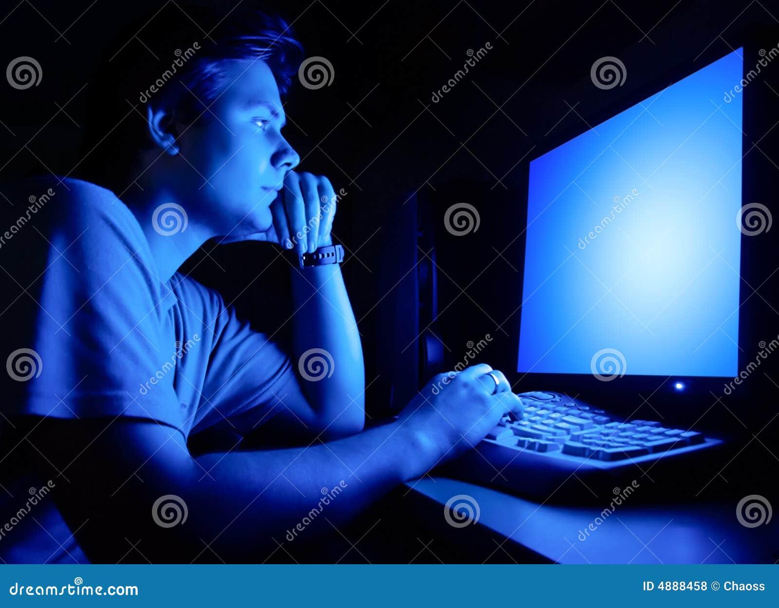 Przywódcy ekranu komputera