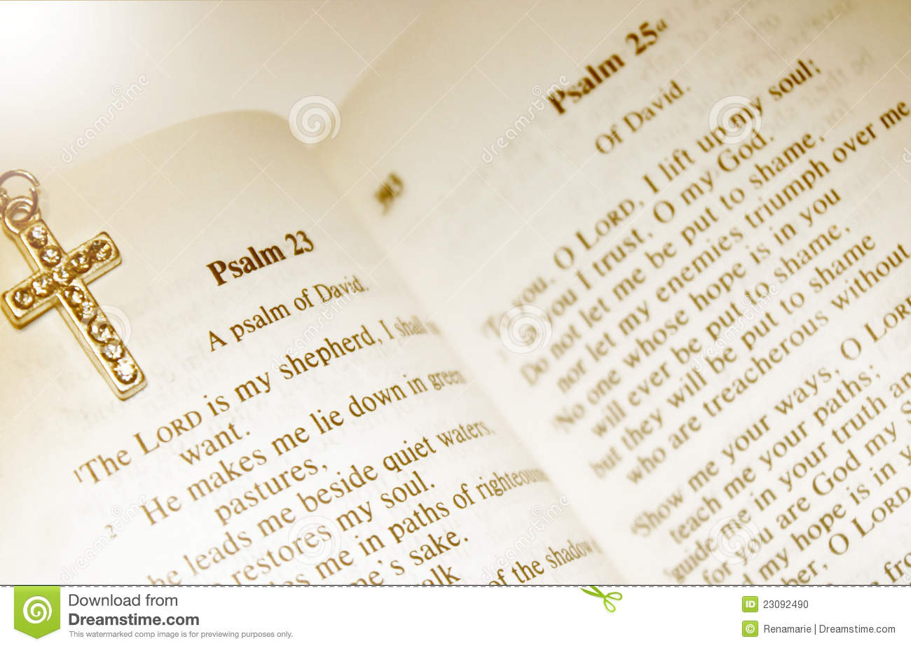 Psalm 23 - The Lord Is My Shepherd Stock Photo - Image of ...