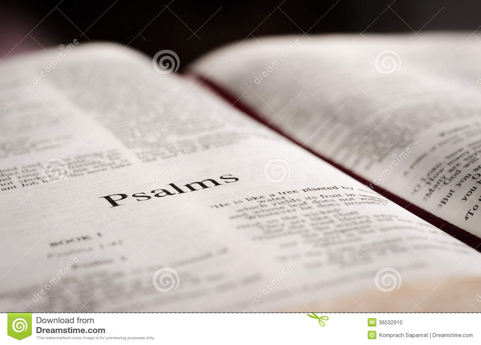 Psalms Page Stock Photo - Image: 36532910
