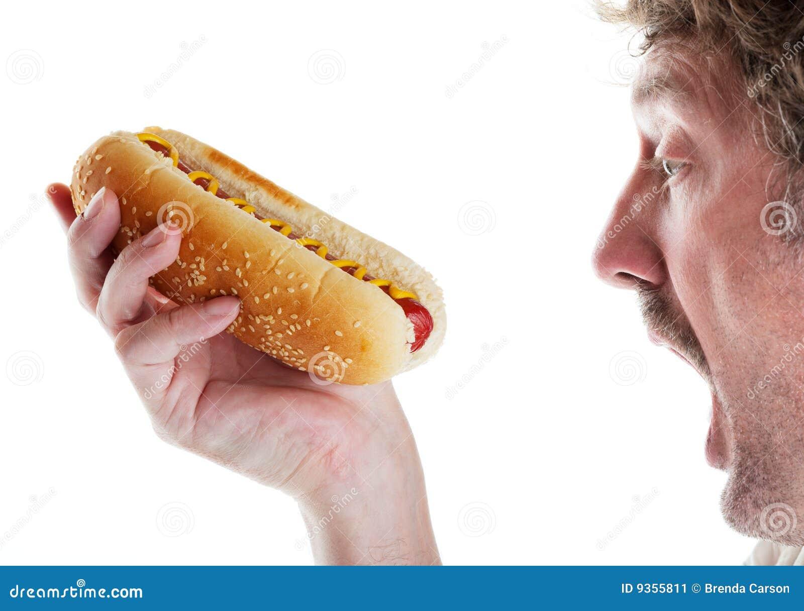 Psi gorący głodny mężczyzna