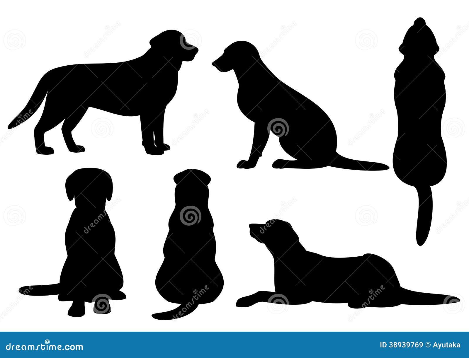 Psi sylwetka set