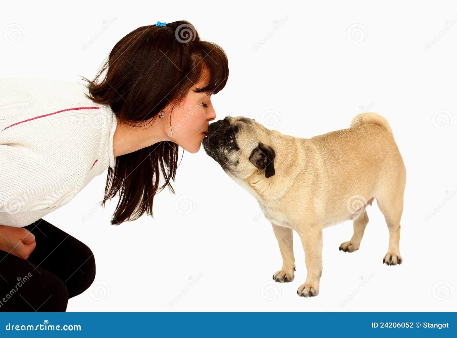 Psia całowania kwaczy kobieta