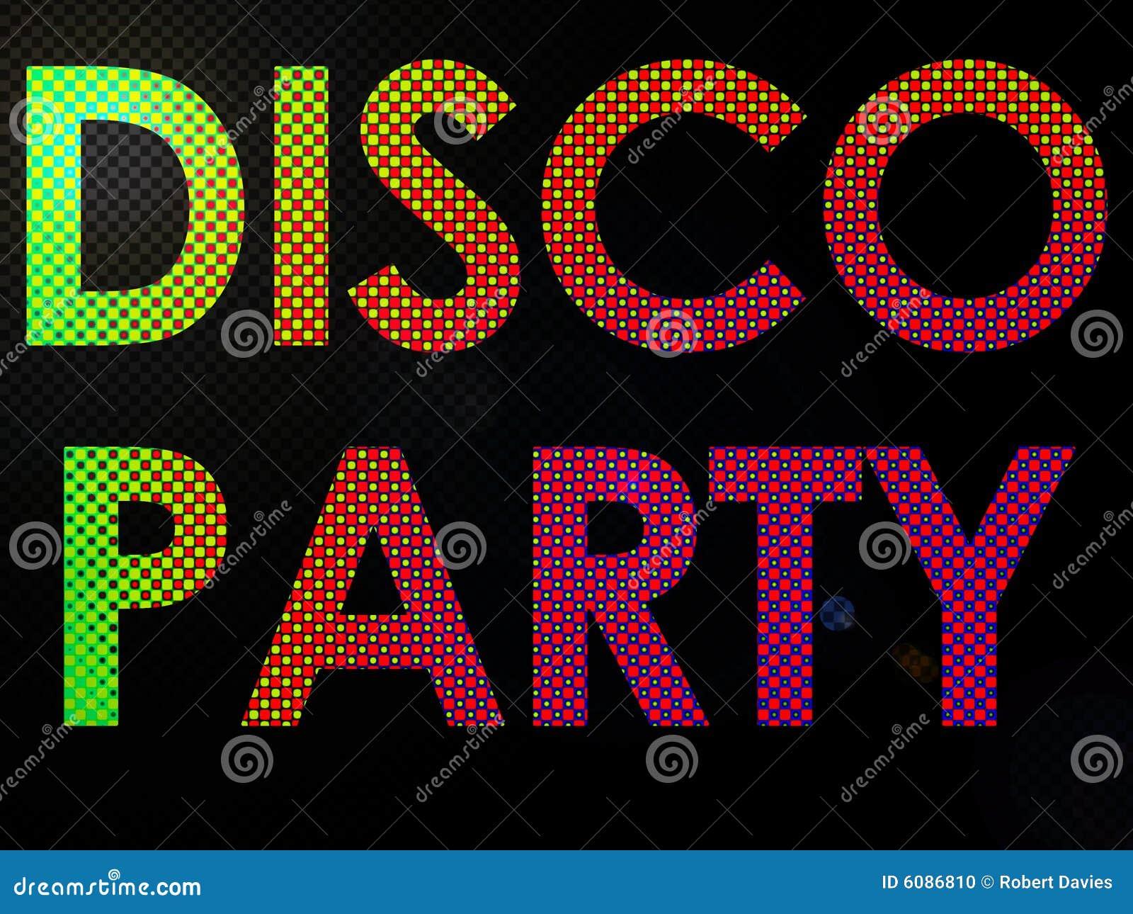 Psychadelic LED beleuchtet Disco-Party-Zeichen-Text