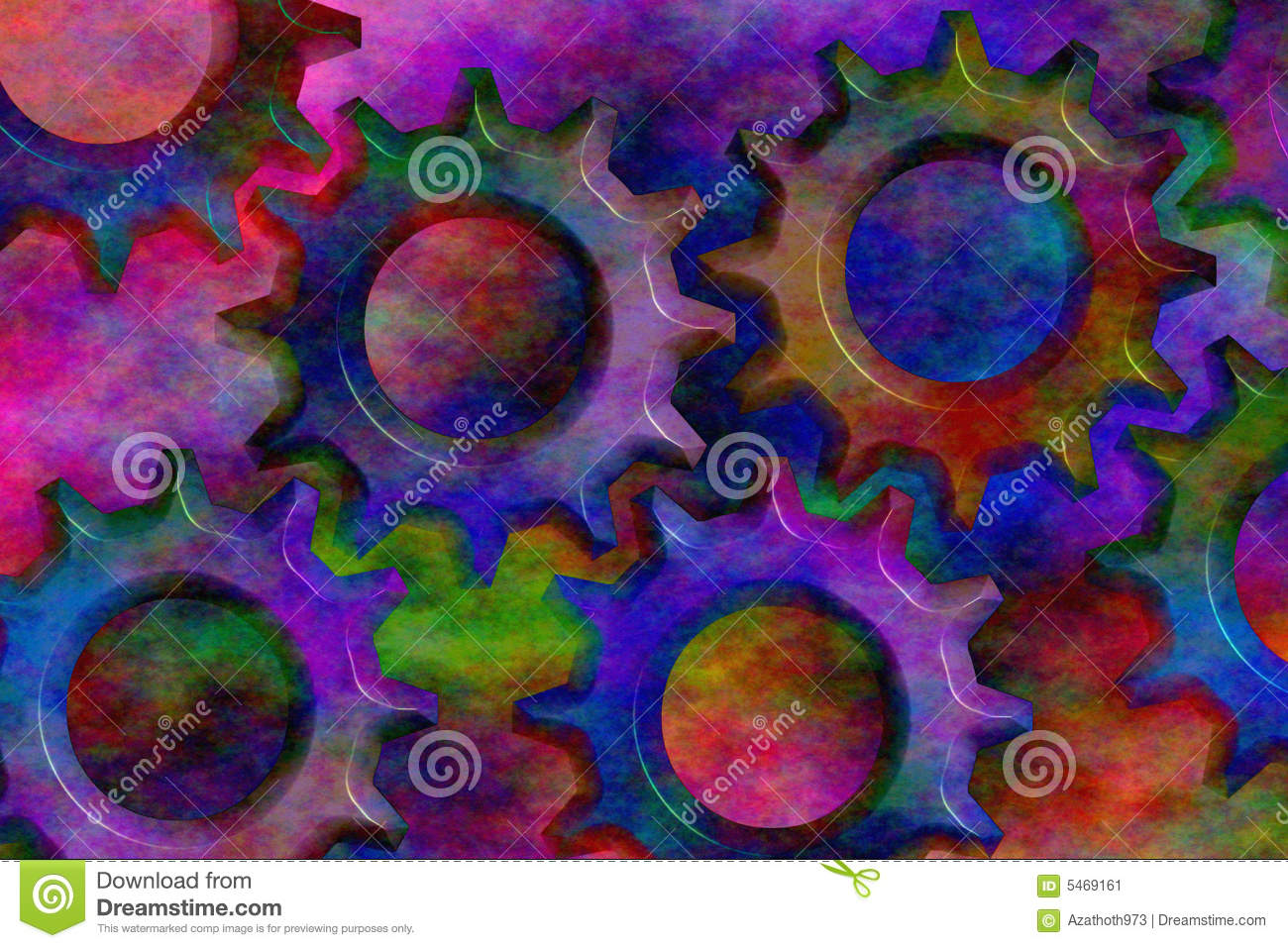 Psychedelic 3D Cogs