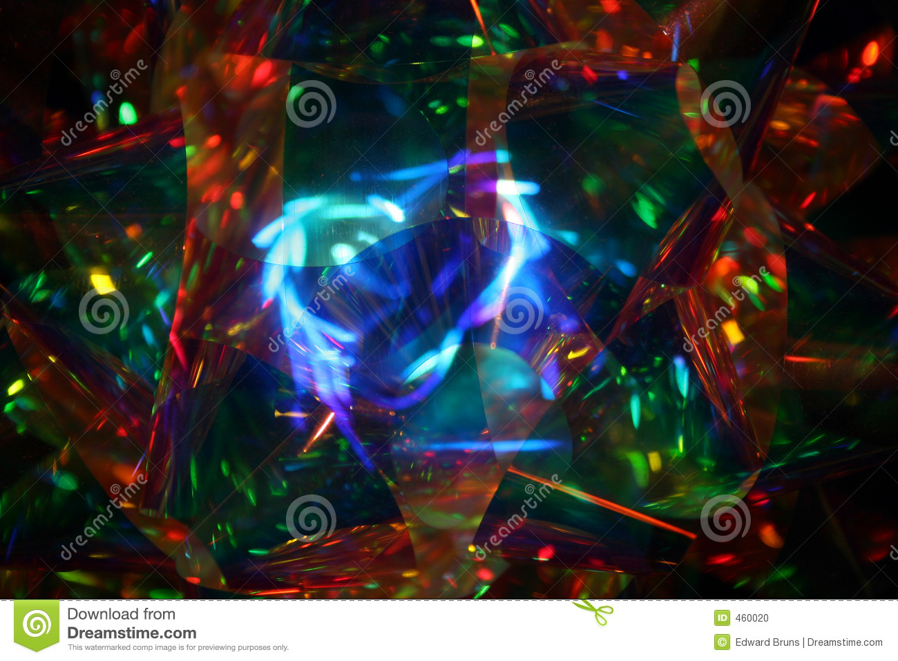 Psychedelic Christmas Ribbon Extended Background Vector Stock