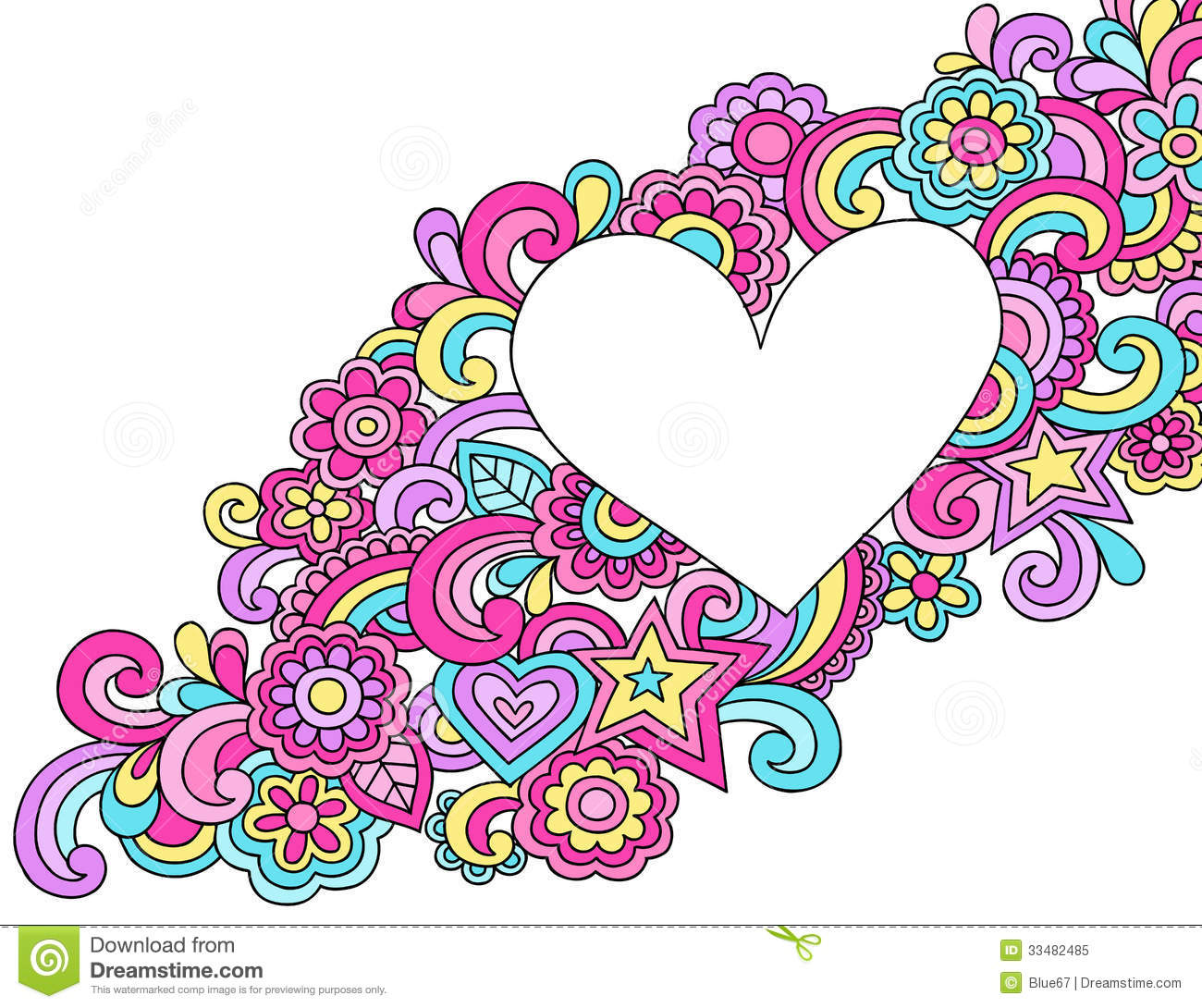 Psychedelic heart frame doodle vector stock vector illustration psychedelic heart frame doodle vector jeuxipadfo Gallery