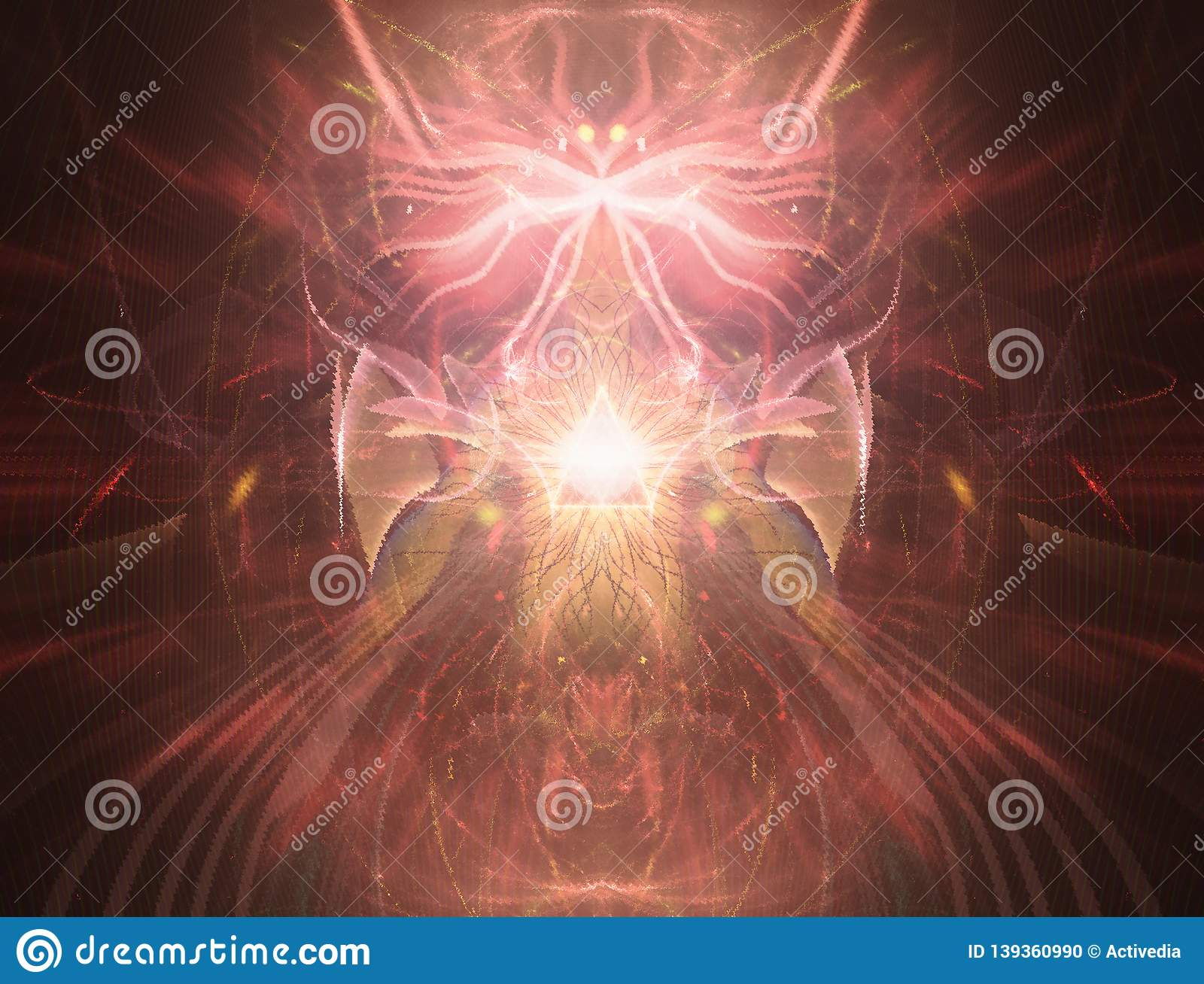 Psychedelic HiTech Fractals Visionary Art Stock Illustration