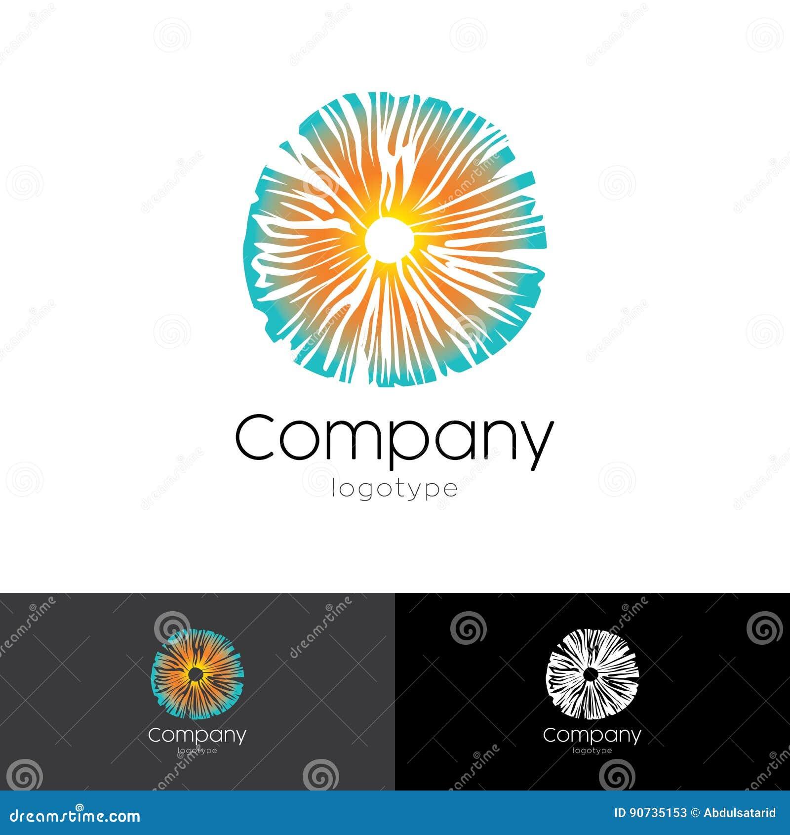 Psychedelic Logo Based On Mushroom Stock Vector - Illustration of ...