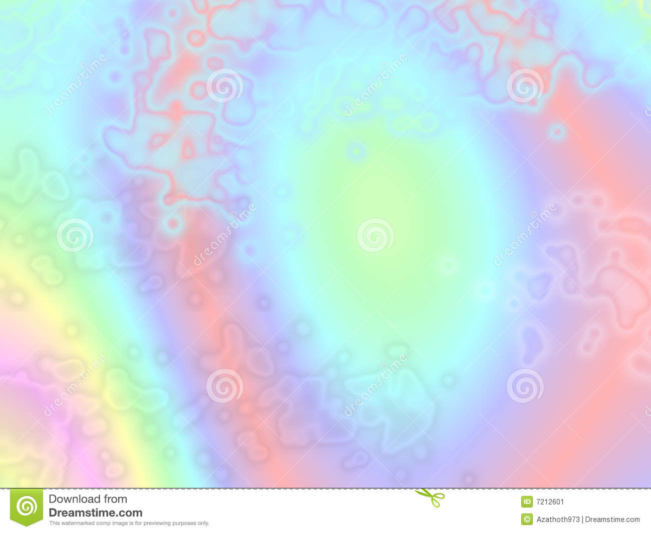 Psychedelic Pastel Ethereal Background Stock Image - Image: 7212601