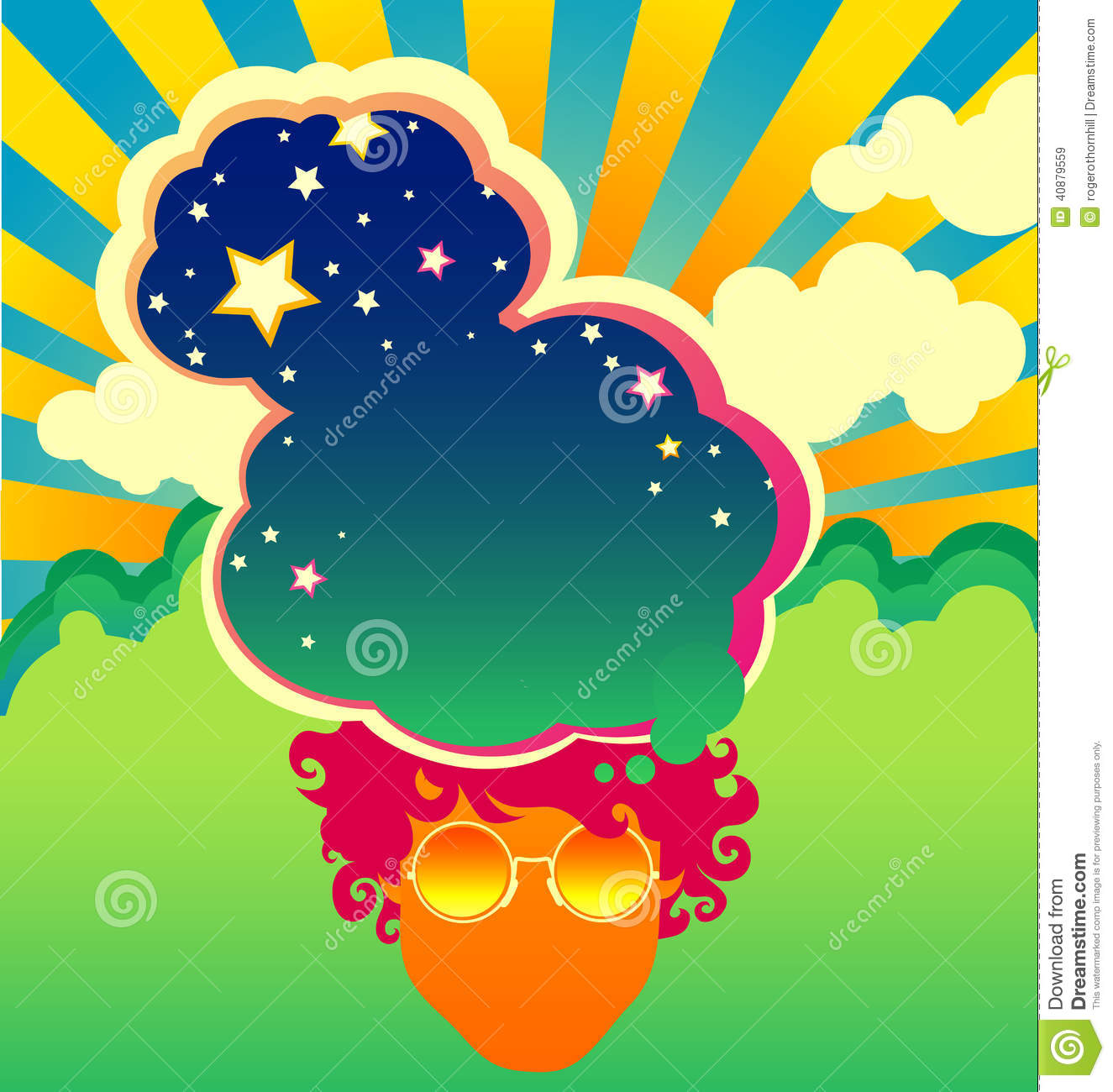 Poster backgrounds design - 1960s Design Poster Psychedelic Style Template