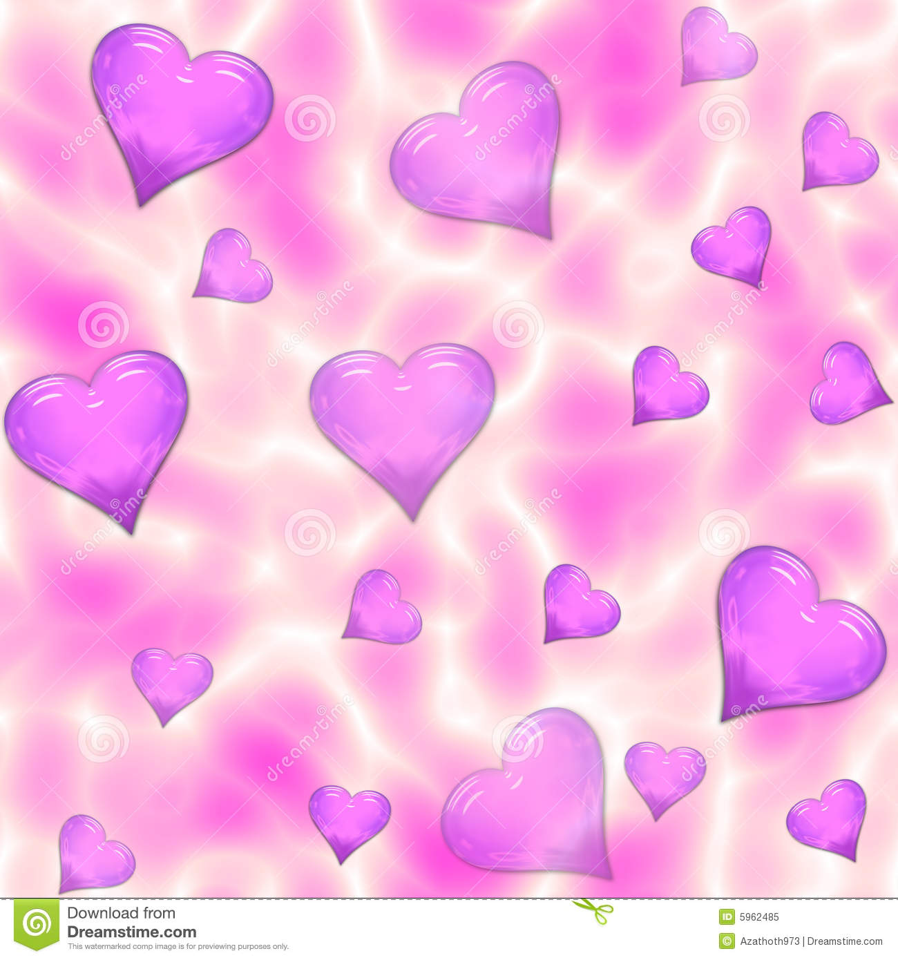 Psychedelic Seamless Hearts Tile