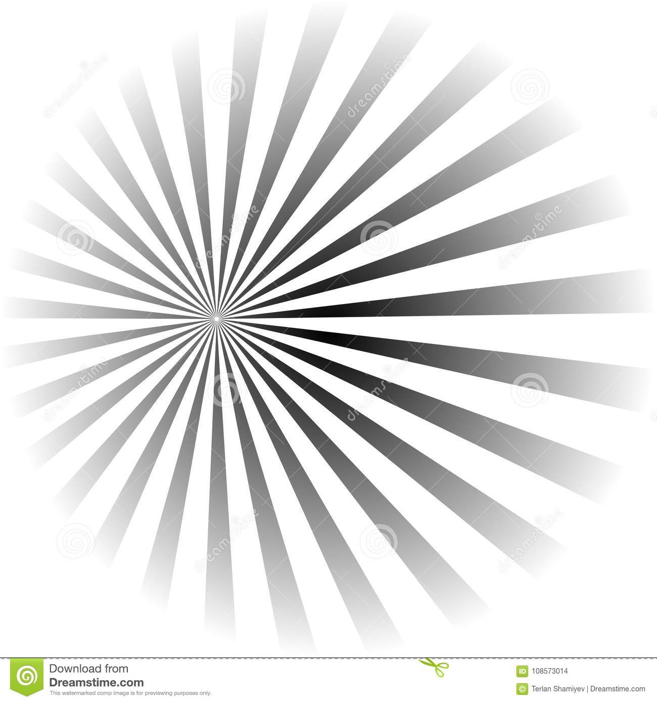 Psychedelic spiral with radial rays, twirl, twisted comic effect, vortex backgrounds
