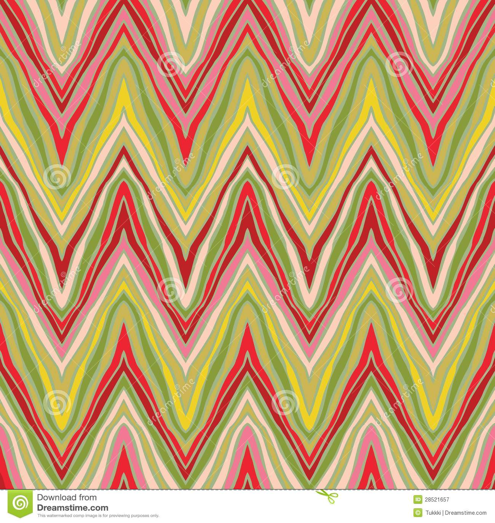 Psychedelisch lineair zigzagpatroon