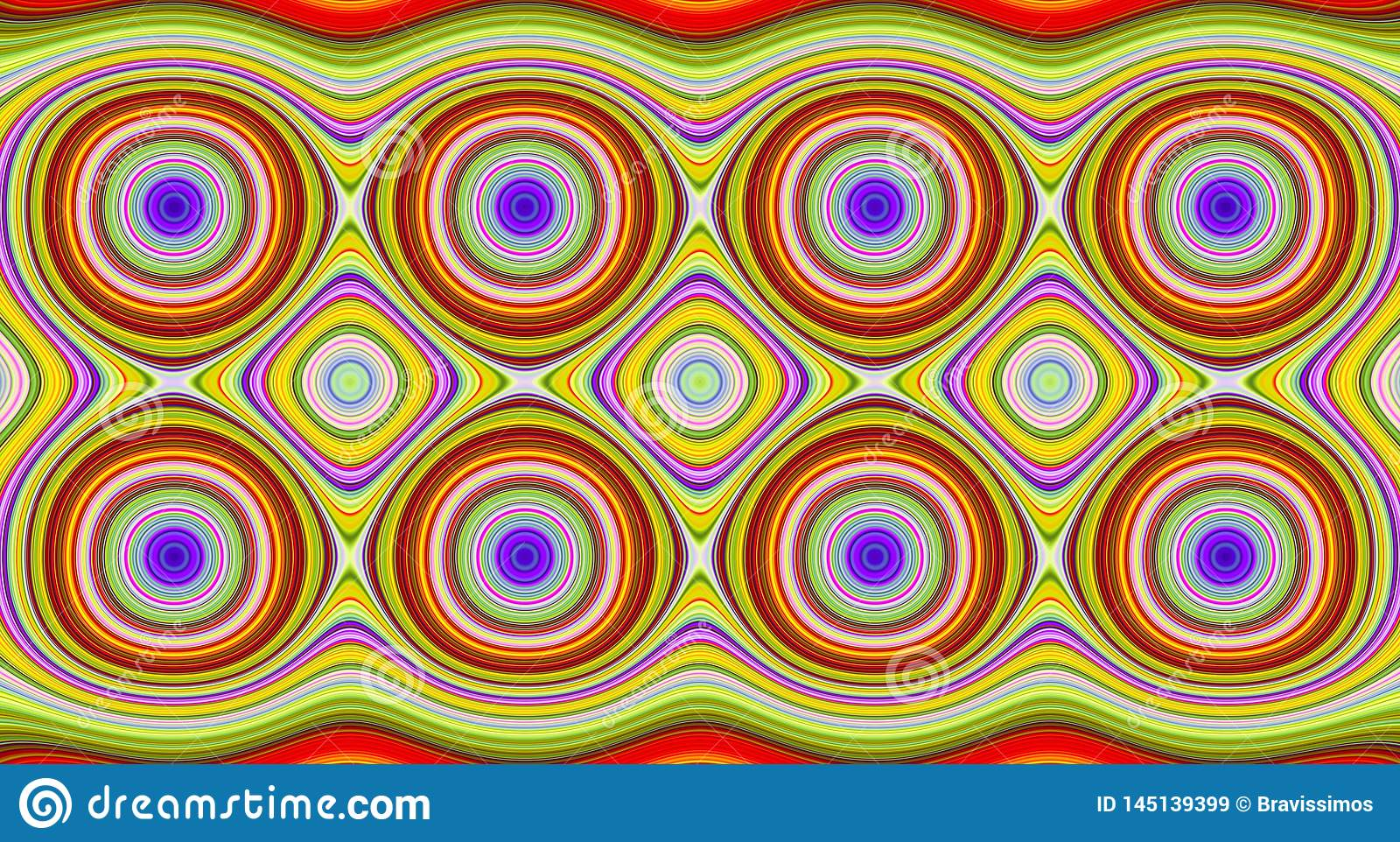 Psychedelische symmetrie abstract patroon en hypnotic achtergrond, werveling