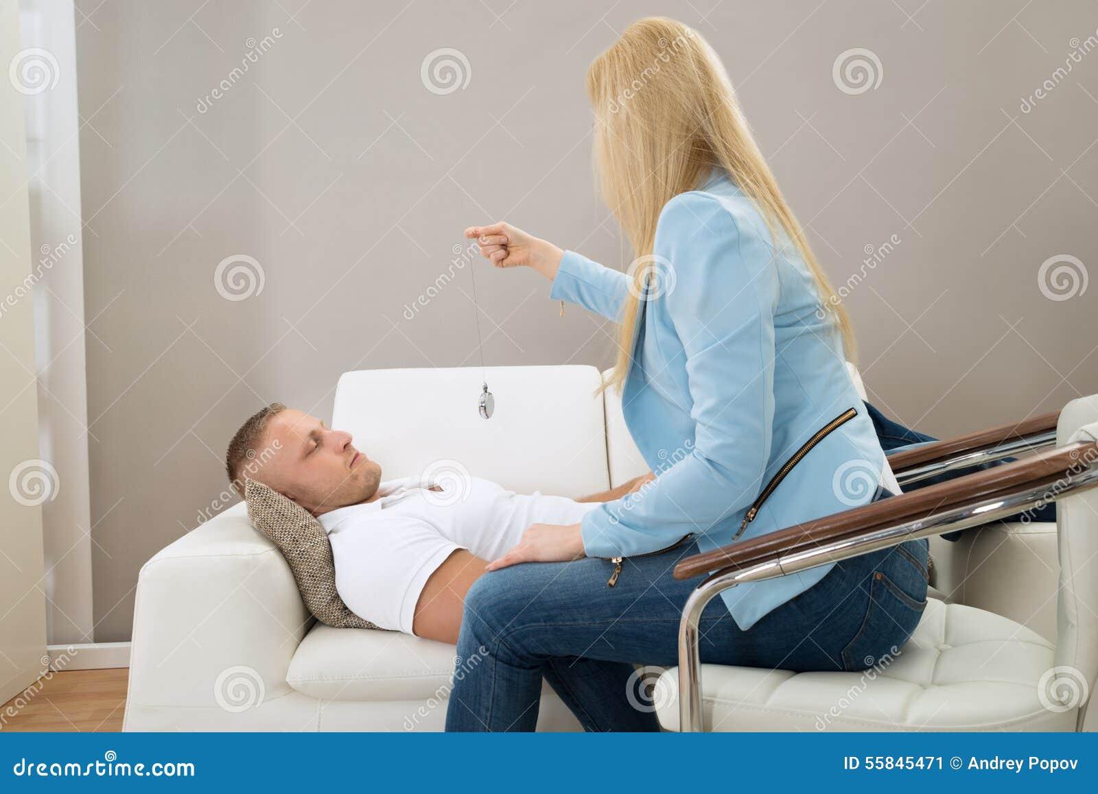 Psychiatrist Hypnotizing Patient