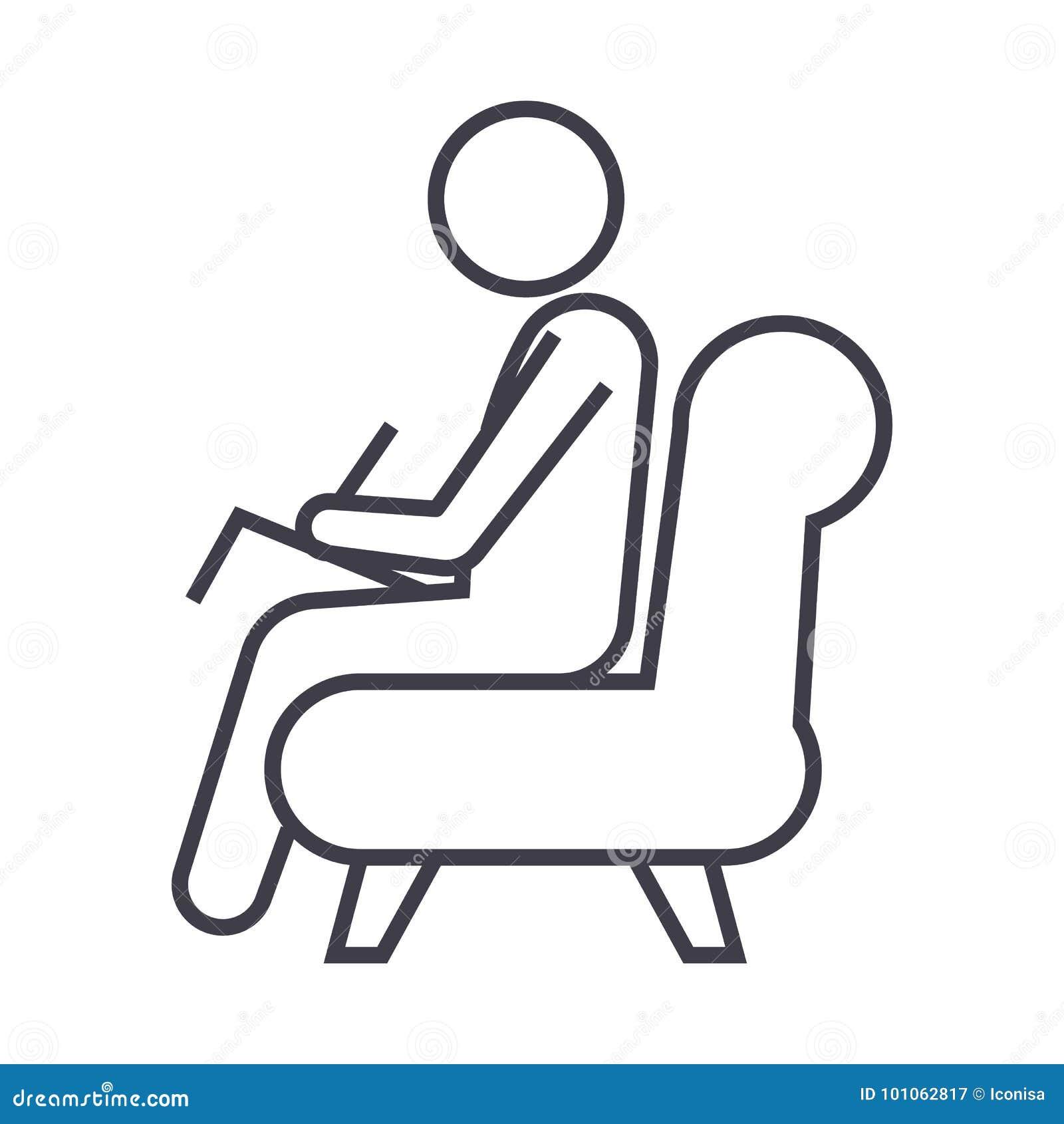 Psychologe, Beratervektorlinie Ikone, Zeichen, Illustration auf Hintergrund, editable Anschläge