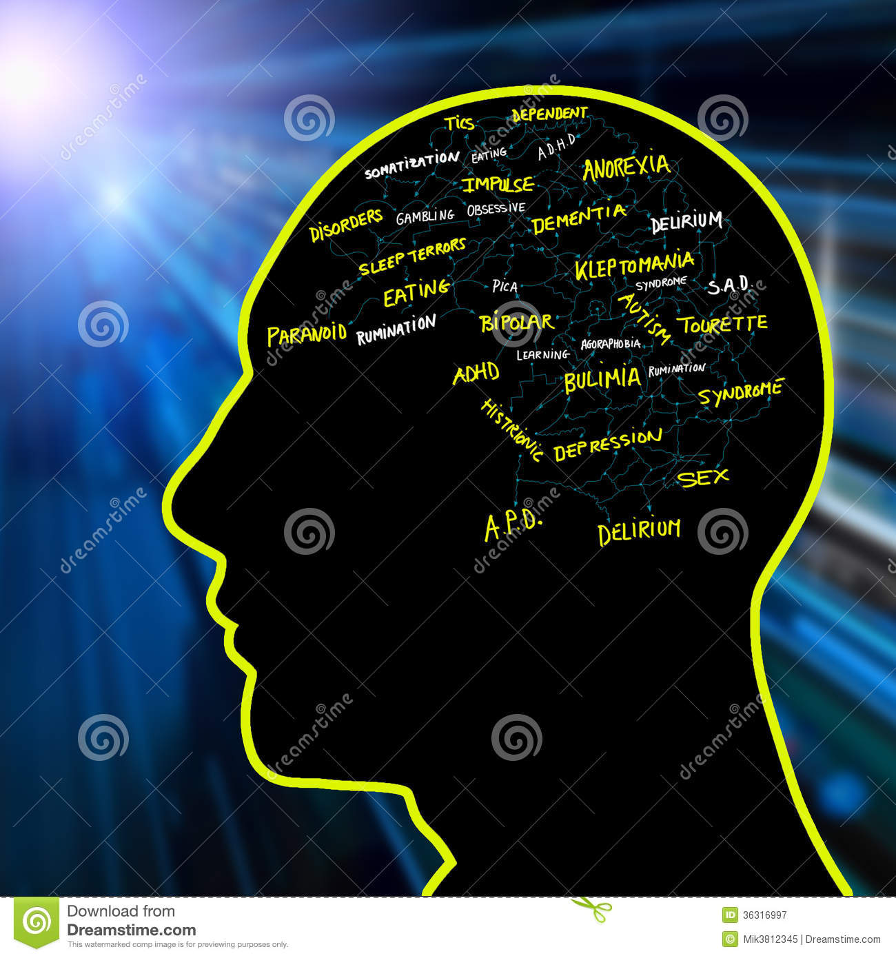 Psychological Disorders Royalty Free Stock Photography - Image ...